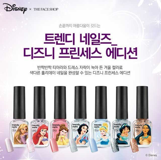 THE FACE SHOP X DISNEY PRINCESS NAIL POLISH