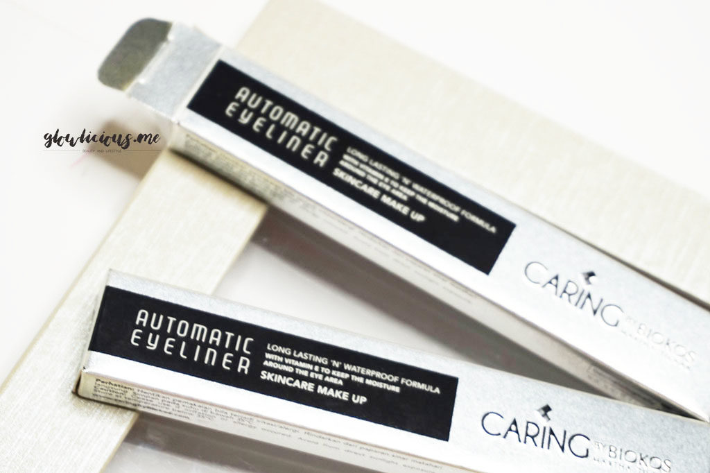 Kemasan Caring By Biokos Automatic Eyeliner in Brown & Black