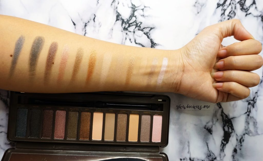 Swatches BYS Nude Eyeshadow Palette