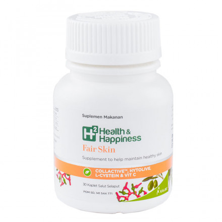 H2 Health and Happiness Fair Skin 30 kaplet | Rp. 240.000