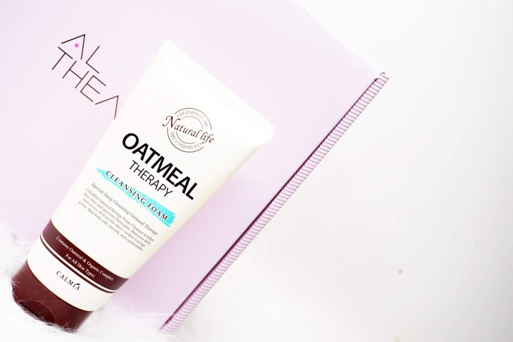 2. Calmia Oatmeal Therapy Cleansing Foam
